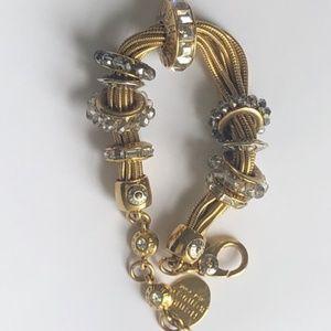Henri Bendel Gold and Crystal Bracelet